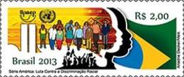 BRAZIL 2013 AGAINST RACISM FIGHT AGAINST RACIAL DISCRIMINATION UPAEP FLAG - Brésil
