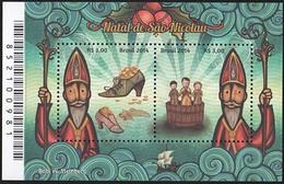 BRAZIL 2014 CHRISTMAS RELIGION CHRISTMAS OF ST. NICHOLAS - Unused Stamps