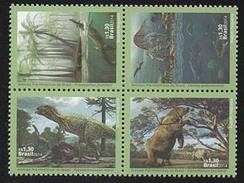 BRAZIL 2014 PRE-HISTORIC ANIMALS BRAZIl - Unused Stamps