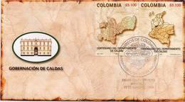 Lote HF61abF, Colombia, 2005, SPD-FDC, Centenario Del Departamento De Caldas, Map - Colombia