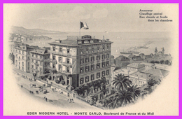 MONTE-CARLO (Monaco) - EDEN MODERN HOTEL, Boulevard De France Et Du Midi - Hotels