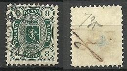 FINLAND FINNLAND 1875 Michel 14 A C (dunkelgrün/dark Green) NB! Read! - Gebruikt