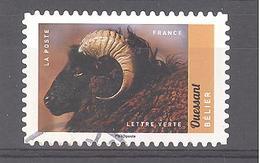 France Autoadhésif Oblitéré (Veau, Vache, Cochon, Couvée ... - Bêlier Ouessant) (cachet Rond) - France