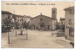 SOUCIEU EN JARRET - L'Eglise Et La Place - France