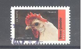 France Autoadhésif Oblitéré (Veau, Vache, Cochon, Couvée ... - Poule Bresse Gauloise) (cachet Rond) - France