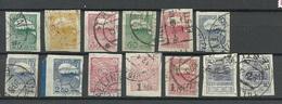 ESTLAND Estonia 1920/1924 Briefmarken Auf Zigarettenpapier Gedruckt. Komplett ! O - Estland