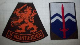 Set Of Patches Army Netherlands - 1950s - Ecussons Tissu
