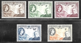 Northern Rhodesia 1953 SC# 54-58 - Stamps