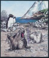 CHILE 2000 CHILEAN ANTARCTIC TERRITORY,  ELEFANTE MARINO Minisheet** - Antarctic Wildlife