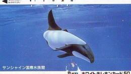 Télécarte Japon ORCA * BALEINE * WHALE (261) HAIFISCH *  * PHONECARD Japan * FISH * POSSON * VIS * - Vissen