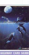 Télécarte Japon ORCA * BALEINE * WHALE (263) HAIFISCH *  * PHONECARD Japan * FISH * POSSON * VIS * - Fish