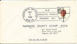 USA Cover HARFORD COUNTY STAMP SHOW PERRYMAN 4-10-1986 - Enveloppes évenementielles