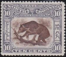North  Borneo    .    SG     .    105      .     *    .     Ongebruikt   .    /    .      Mint-hinged - Noord Borneo (...-1963)