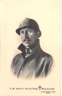 FAMILLES ROYALES ( MILITARIA ) BELGIQUE - S.M. ALBERT 1er Roi Des BELGES ( 18/02/1934 ) CPA - Belgium Belgien België - Familles Royales