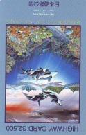 Télécarte Japon ORCA * BALEINE * WHALE (264) HAIFISCH *  * PHONECARD Japan * FISH * POSSON * VIS * - Fish