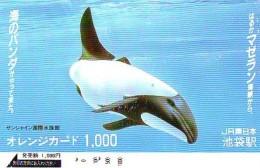 Télécarte Japon ORCA * BALEINE * WHALE (265) HAIFISCH *  * PHONECARD Japan * FISH * POSSON * VIS * - Fish