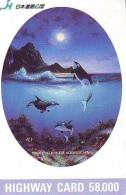 Télécarte Japon ORCA * BALEINE * WHALE (266) HAIFISCH *  * PHONECARD Japan * FISH * POSSON * VIS * - Fish