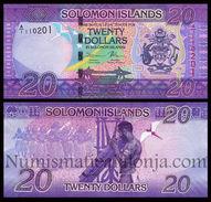 Islas Salomon Solomon 20 Dollars 2017 Pick 34 New SC UNC - Isla Salomon