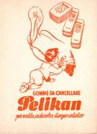 "06812 ""PELIKAN - GOMME DA (?) CANCELLARE"" CARTA ASSORB. ORIGINALE - Cartoleria"