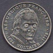 FRANCE  5 Francs 1994 - Voltaire - Francia