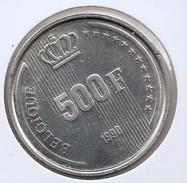 BOUDEWIJN * 500 Frank 1990 Frans * F D C * BELGIQUE * Nr 8652 - 11. 500 Francs