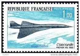 France N° PA  43 ** Poste Aérienne - Transport - Premier Vol De L'avion Supersonique Concorde - 1960-.... Neufs