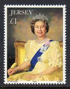 GB JERSEY - 1993 QUEEN ELIZABETH II CORONATION ANNIVERSARY PAINTING STAMP SG 634 FINE MNH ** - Jersey