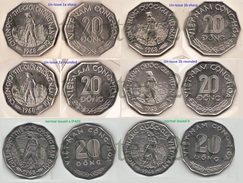 Vietnam South 20 Dong 1968 Set 4 Different Un-issued Extremely Rare Coins - Vietnam