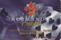Normandie Casino - Gardena, CA - 2002 Pocket Calendar Card - Casino Cards