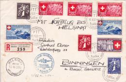 Bel Affranchissement De L'Exposition Nationale Suisse  1939 Sur Lettre  , A Destination D'Helsinki - Covers & Documents