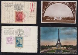 France 1943 2 Picture Postcrads Cinderella Tour Eiffel - France