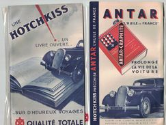 ANTAR-GRAPHITE L'HUILE DE FRANCE HOTCHKISS QUALITE TOTALE COUVRE LIVRE CLARITAL PAPETERIE LOUIS MULLER & FILS PARIS - Publicités
