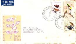 Papau New Guinea FDC Birds In Natural Color 20/01/1965 - Papua Nuova Guinea