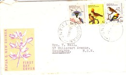 Papau New Guinea FDC Birds In Natural Color 20/01/1965 - Papua New Guinea