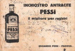 """06818 """"INCHIOSTRO ANTRACITE PESSI  - EDOARDO PESSI - PADOVA"""" CARTA ASSORB. ORIGINALE - Papierwaren"""