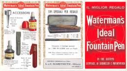 """06820 """"WATERMAN'S IDEAL FOUNTAIN PEN"""" PIEGHEVOLE PUBBLICITARIO ORIGINALE - Pubblicitari"""
