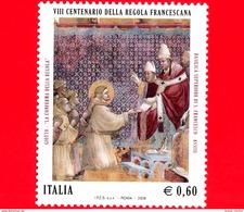 Nuovo - MNH - ITALIA - 2008 - 8º Centenario Della Regola Francescana - 0,60 € - Affresco Di Giotto - 6. 1946-.. Republic
