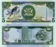 TRINIDAD & TOBAGO     5 Dollars      P-47       2006      UNC - Trindad & Tobago