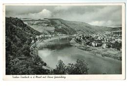 16539   CPA  TRABEN  - TRARBACH  Mit Ruine Grevenburg     Carte Photo 1953  ACHAT DIRECT !! - Traben-Trarbach