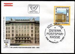 ÖSTERREICH 1983 - 100 Jahre Postsparkasse - FDC - Münzen