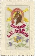 CPA Souvenir Du 8e D'Artillerie De Nancy Carte Brodée - Nancy