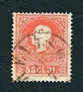 LOMBARDO-VENETO 1859 -  Effigie Di Francesco Giuseppe - II Tipo - 5 Soldi Rosso - Un 9A - Lombardo-Veneto