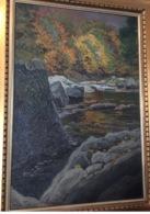 IM BODETAL 1907(Treseburg Thale Harz Sachsen) Gemälde Impressionismus Klein Walter 1887 Salzuflen-Berlin (tableau Ölbild - Huiles