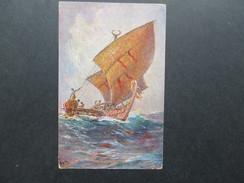 AK Künstlerkarte Kolonialkriegerdank. Das Letzte Boot Vor Der Insel Ugomes, Südsee. Ungebraucht - Ehemalige Dt. Kolonien