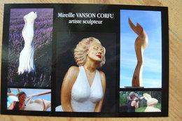 CP - Carte Promotionnelle Pour Les Oeuvres De Mireille Vanson Corfu Artiste Sculpteur - Sculpturen