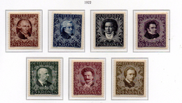 PIA - AUS - 1922 : Grandi Compositori Di Musica - (Yv 290-96) - 1918-1945 1. Republik