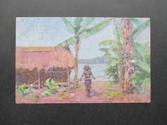 AK Künstlerkarte Kolonialkriegerdank. Papua In Neuguinea. Gemälde Prof. Peter Paul Müller. Ungebraucht - Ehemalige Dt. Kolonien