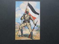 AK Künstlerkarte Kolonialkriegerdank. Askari Aus Deutsch - Ostafrika.Verwendet In Leipzig Nach Wahnsdorf Bei Reichenberg - Ehemalige Dt. Kolonien