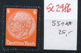 D.-Reich  Nr.  551   ** ( Se2986 ) Siehe Scan - Germany
