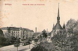 (34)  CPA  Zittau  Hospital St Jakobund Weberkirche  (bon Etat) - Zittau